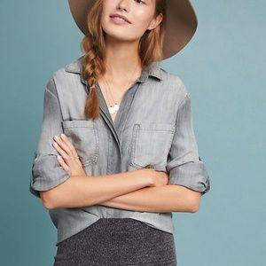 Anthropologie Cloth & Stone Chambray Top XS